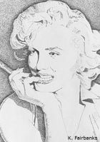Marilyn Monroe - Stippling by eyeqandy