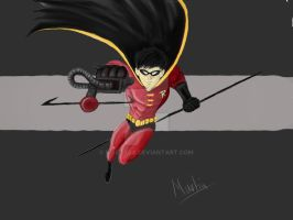 robin digital painting step 5 by marty0x