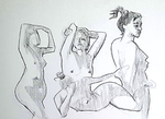 nude quick sketches by Neivan-IV
