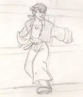 Jim Hawkins in the Shrouds by LightlyBow