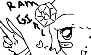 hi im ram girl and i want YOU to colored me in !!! by miku22