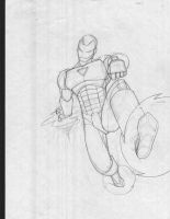 Iron Man pencils by apvmiciano