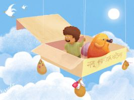 manu's flying machine by kikando