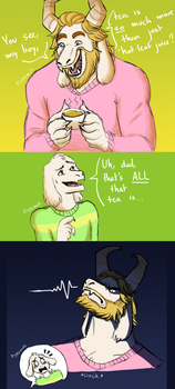 Undertale | Hot Leaf Juice by NorthernLightWolf
