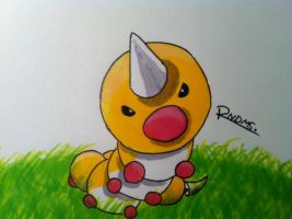 Kanto no. 013 Weedle by Randomous