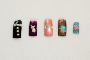 3D Nail Art by elvaniel