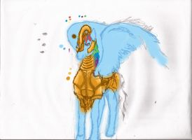 colorized realistic rainbow dash w/armor progress by Pwnyville