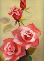 Rose Oil Painting by Leaping-Froggs