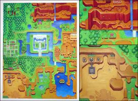 Zelda 3 map by pixel-ninja