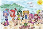 Pocky Love Characters Beach TIME! Part 1 by amadarian