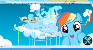 (Updated) Rainbow Dash Google Chrome Theme by NekoKawaii11