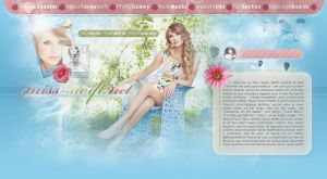 Taylor Swift Fansite Layout by BurningBrightDesigns