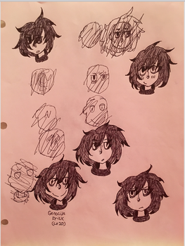More Soulless Frisk sketches by Are998