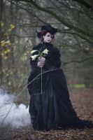 Stock - Gothic woman with lilies baroque by S-T-A-R-gazer