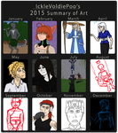2015 Summary of Art by IckleVoldiePoo