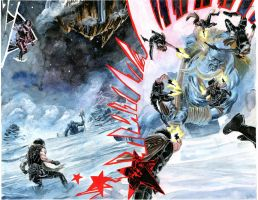 WinterSoldier Issue 02 - Bucky VS Ice Giant by xiconhoca