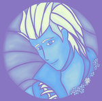 Stained Glass in Blue by lastsorceress