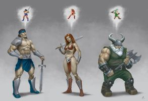 Golden Axe II Heroes by GidraAttacks