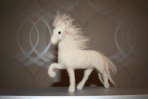 Felted Horse by ByMyHands