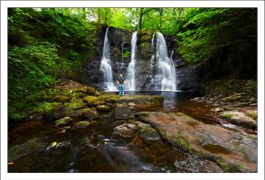 Standing in Glenariff Falls by DL-Photography