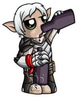 Fenris Chibi by RedPawDesigns