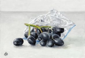 Baggie of Grapes by CamilleBarnesStudio