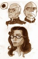 BSG 03 - Roslin and Tigh by VanOxymore