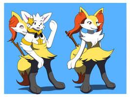 Comission: Braixen Living TF Suit by Avianine
