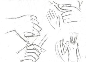 Hands sketches by KartProwler