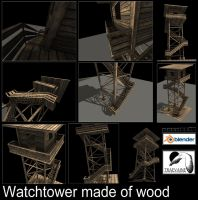 Watchtower made of wood by DennisH2010