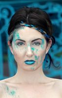 Blue Splatter by JosephineJonesMUA