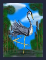 Day Five: Great Blue Heron by Christian-Lee