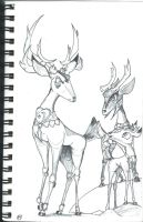 The Royal Deer Family by Cicklefron