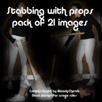 Stabbing with Prop -Image Pack by StarryAryStock