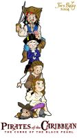 PotC the human totem pole by Ferntree