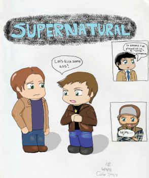 SPN - It's a Chibi World by Hikaru-Hitachiin