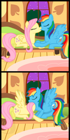 COMMISSION - Flutterdash Comic by IrateLiterate