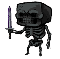 Minecraft Nether Skeleton by SirCaterpie