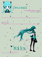 Vocaloid - Hatsune Miku : Journal Skin by Kitty-Vamp