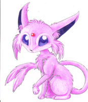 Furry espeon by Kyrara