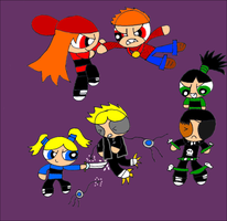 Rowdyruff Girls vs Rowdykiller Boys by RCBlazer
