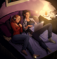 Commission - Beca and Chloe by Afterlaughs