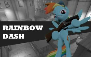 Pony Fortress 2 - Rainbow Dash by TBWinger92