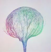 Psychedelic Cotton Tree by iroifutei