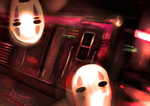 Phantoms in the Subway by EKKnight