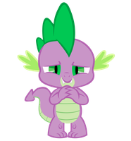 Spike is proud Vector by Kyute-Kitsune