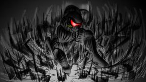 Crysis - Prophet - Air Stomp - sketch reference by Unreal-Forever