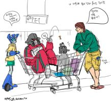 at supermarket by wcomix