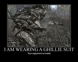 Ghillie Suit Motivational by bobflogg