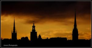 Towers of Stockholm by Arawn-Photography